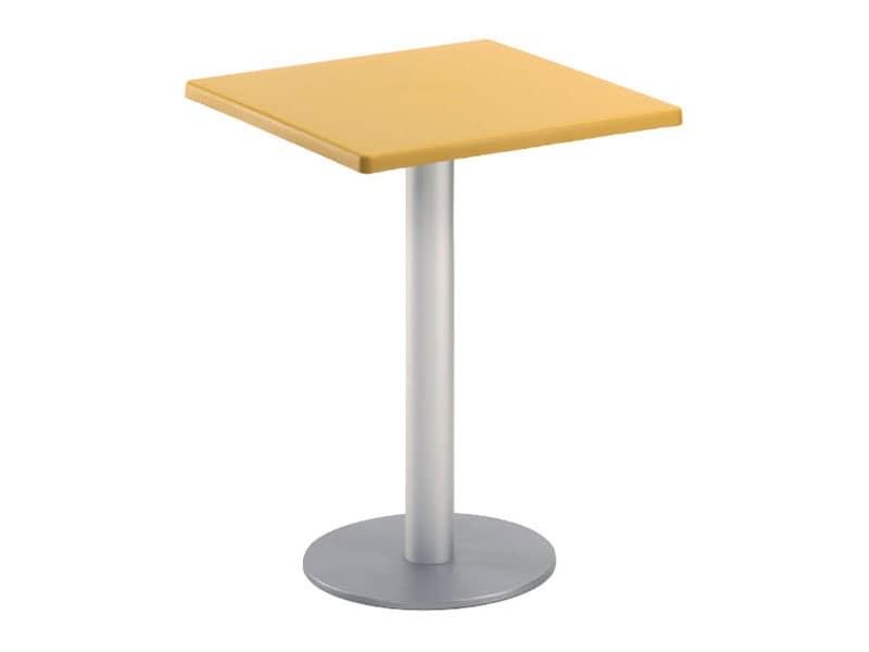 Tavolo 60x60 cod. 20/BR, Tavolino da bar quadrato, per giardino