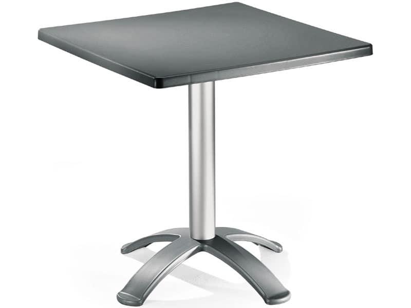 Tavolo 72x72 cod. 06/BG4, Tavolino con base a 4 piedi, per uso esterno