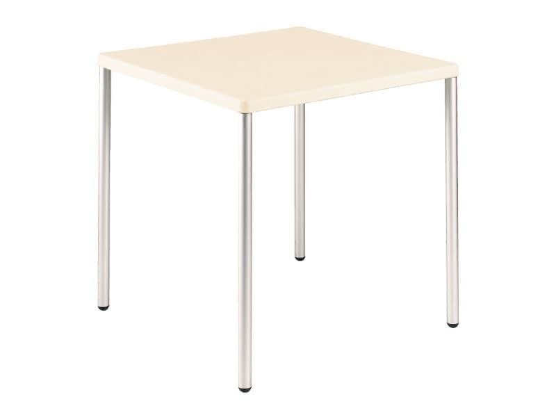 Tavolo 72x72 cod. 06/I, Tavolino quadrato impilabile, per uso contract