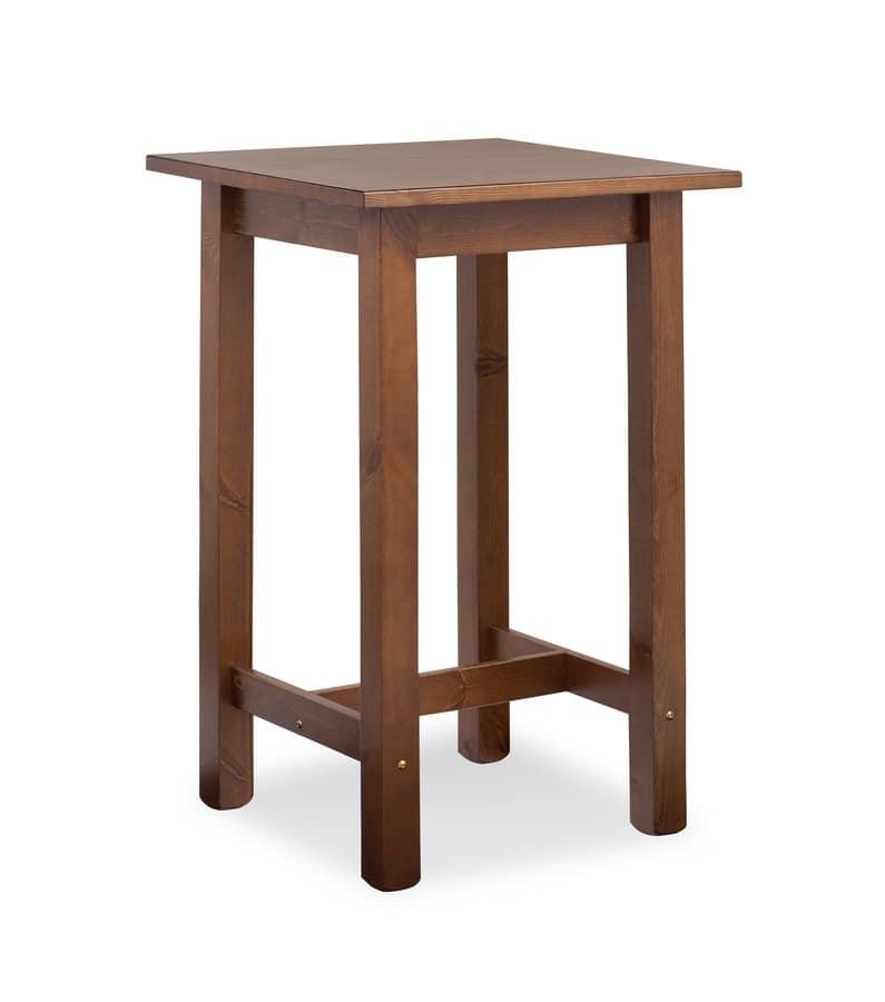 Tavolino alto interamente in pino per bar rustico idfdesign - Tavolo alto bar ...