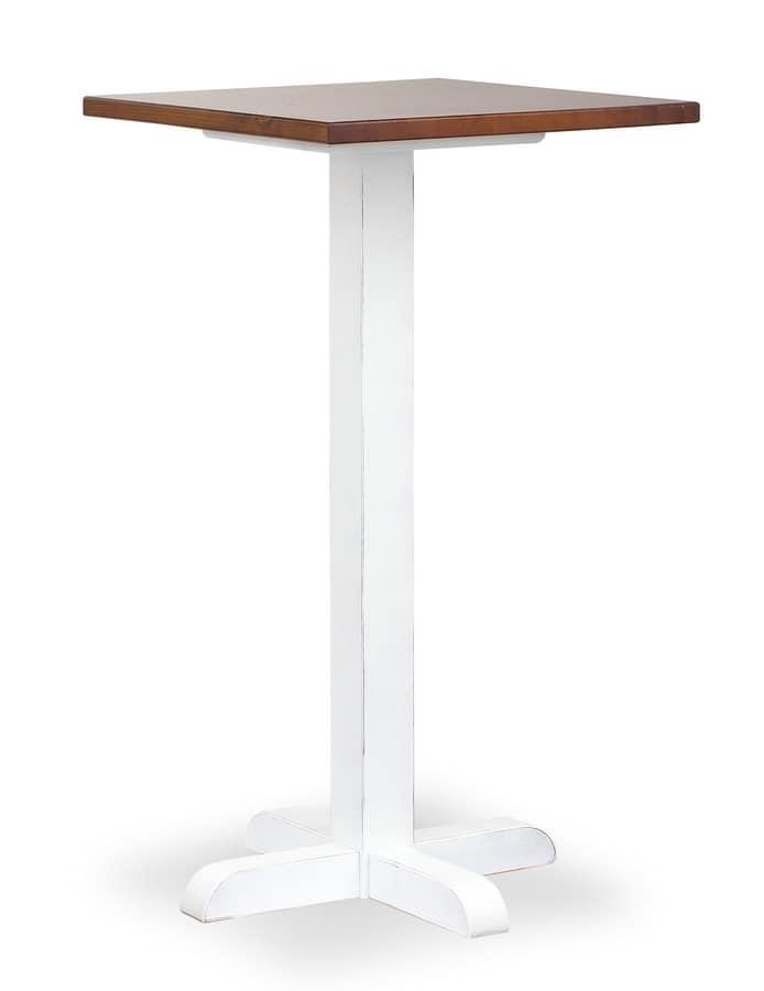 Tavolo alto per bar e osterie in legno di pino idfdesign - Tavolo alto bar ...