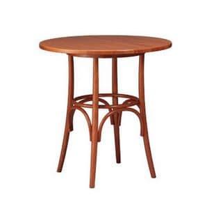 601, Base per tavolino da bar, in faggio curvato