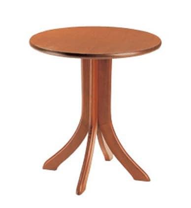 604, Tavolino rotondo per bar e ristoranti, con base in faggio