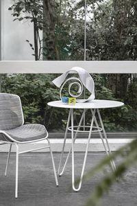 ART. 0125-R SELF TABLE, Tavolo in metallo con piano tondo