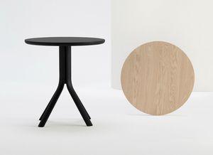 ART. 470 PECK, Tavolo tondo da bar, il legno massiccio
