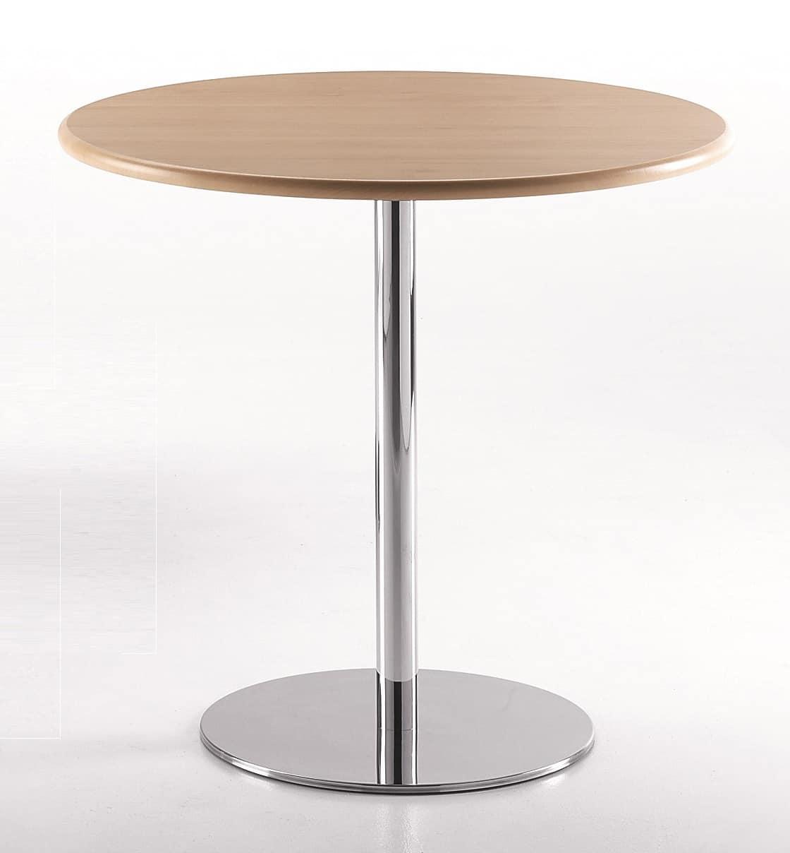 Tavolo rotondo con base in metallo cromato idfdesign for Tavolo rotondo barocco
