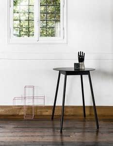 BCN High, Tavolo alto da bar con piano in laminato e gambe in legno