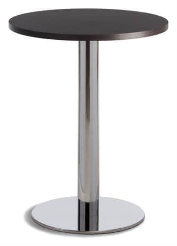 Tavolino da bar base in metallo piano rotondo in melaminico per esterno idfdesign - Tavoli rotondi da esterno ...