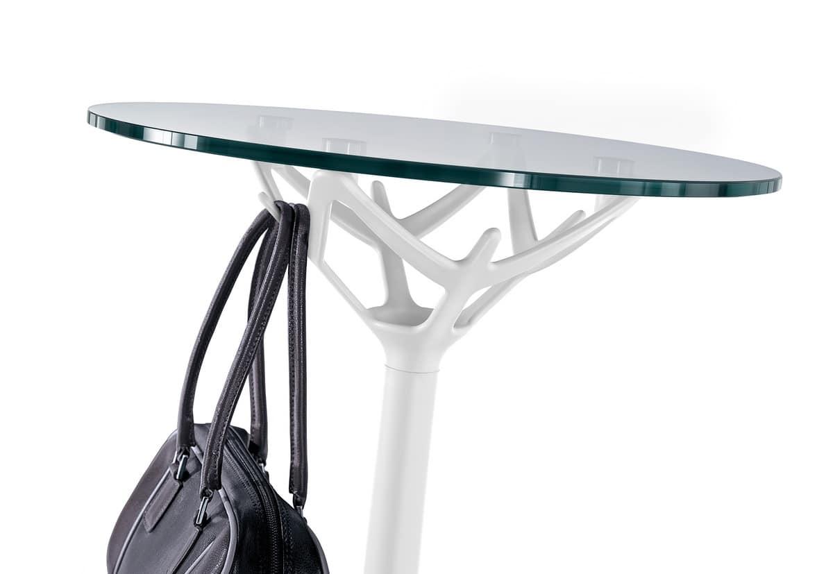 Tavolo Rotondo Vetro Acciaio.Tavolino Rotondo In Acciaio Cromato E Piano In Vetro Idfdesign
