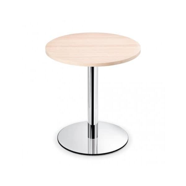 Tavolino rotondo da bar con base in metallo piano in for Tavolini da salotto rotondi