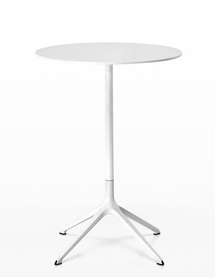 Tavoli tondi di design tavolo design tondo piano in vetro for Tavolo tondo alto