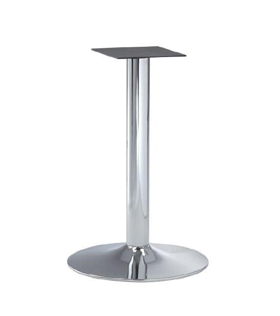 Base Per Tavolo Tondo.Base Cromata In Metallo Per Tavoli Da Bar Idfdesign