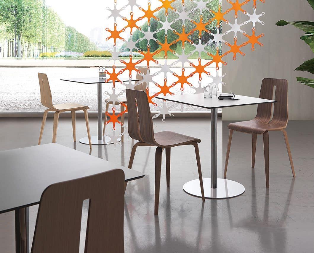Jolly, Tavolini moderni con piano in laminato, per Alberghi