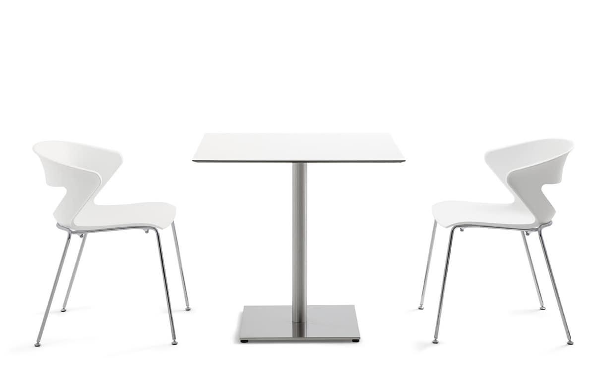 Kaleox 74, Tavolini bar, tondi o quadrati, in HPL