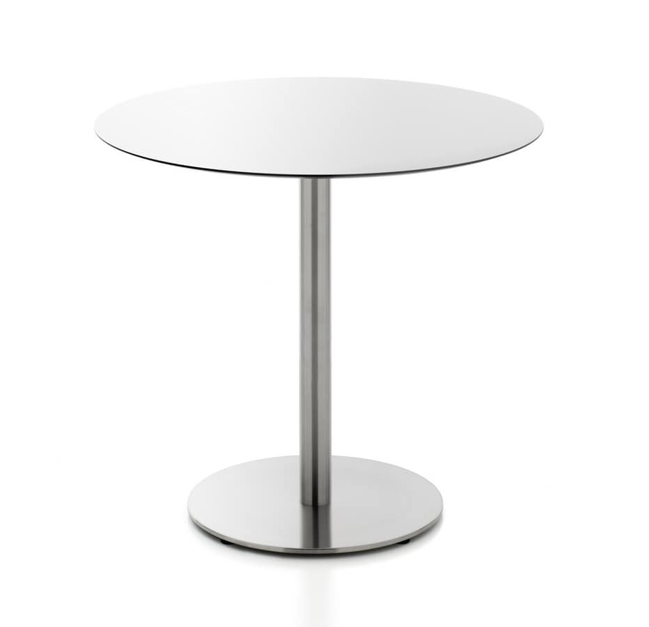Immagini Tavolini Bar.Tavolini Bar Tondi O Quadrati In Hpl Idfdesign