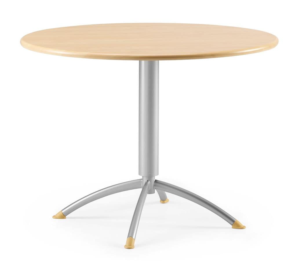 KOMBY 946, Tavolino rotondo in metallo e laminato, per bar e ristoranti