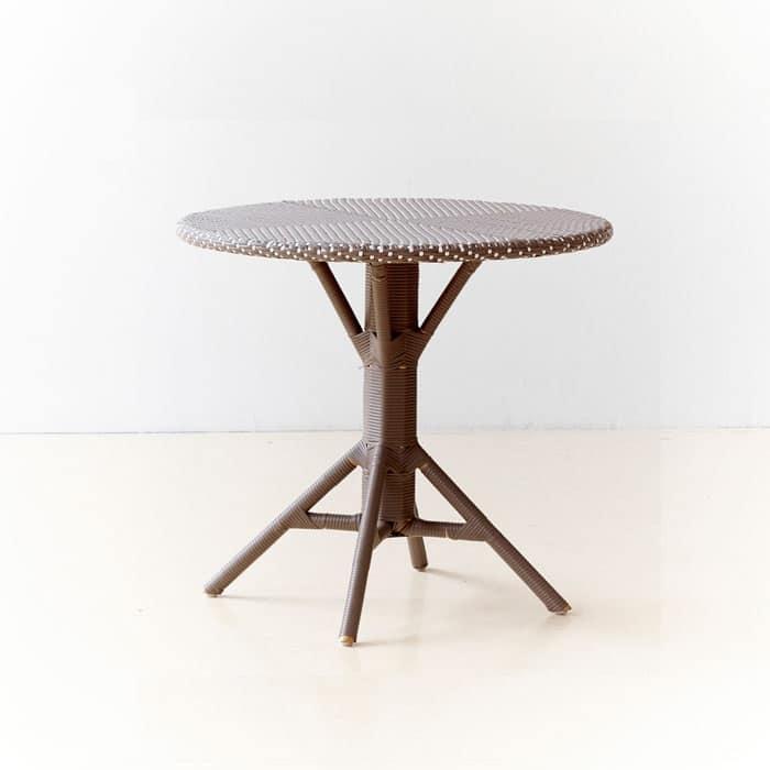 Tavolino da esterno in alluminio intrecciato varie finiture idfdesign - Tavoli rotondi da esterno ...