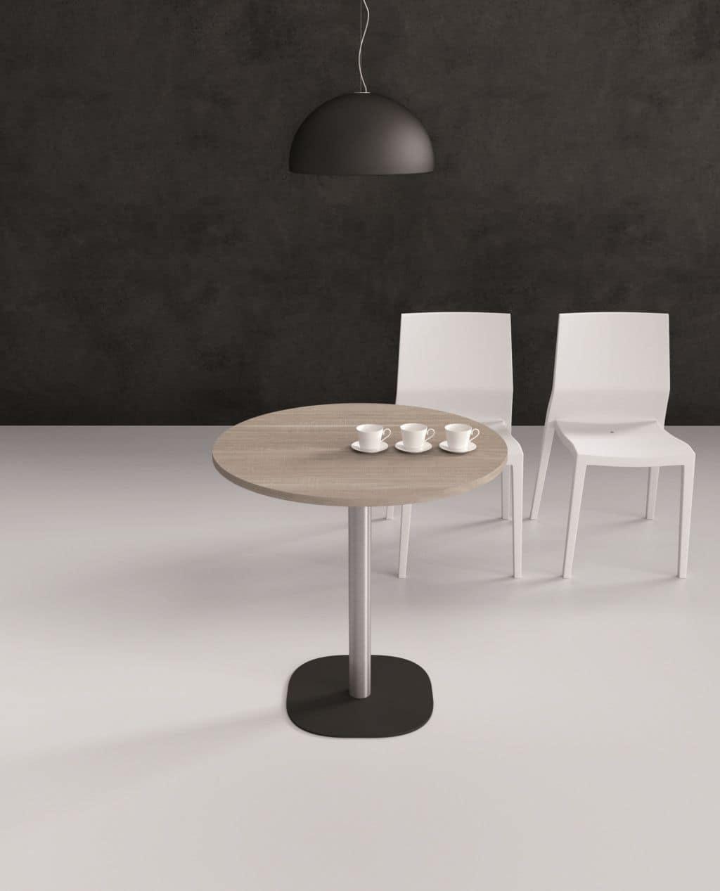 Tavolino Moderno Metallo Kim : Tavolino da bar speciale e moderno con base stondata in
