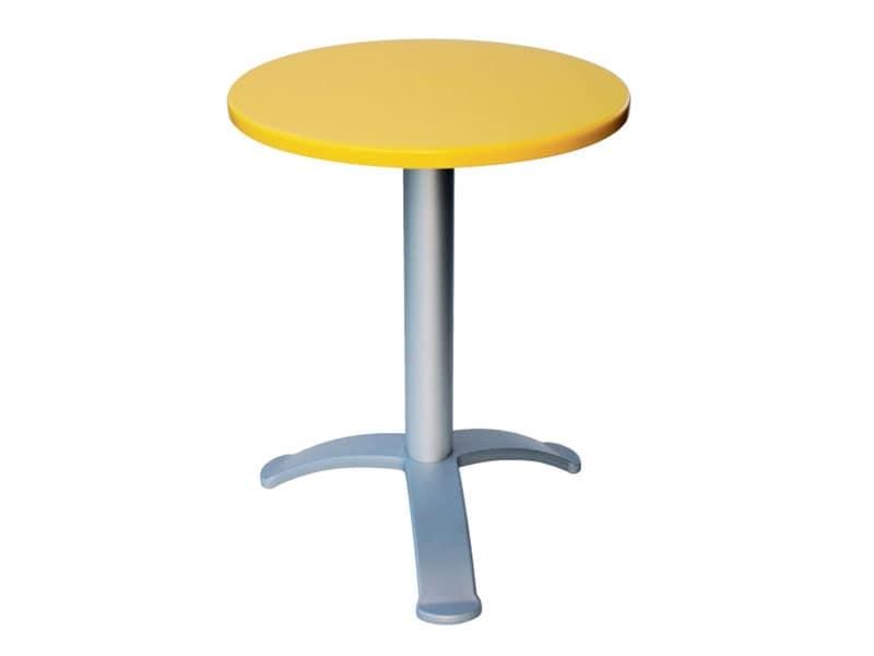 Tavolo Ø 60 cod. 04/BG3, Tavolino da bar moderno, per locali all'aperto