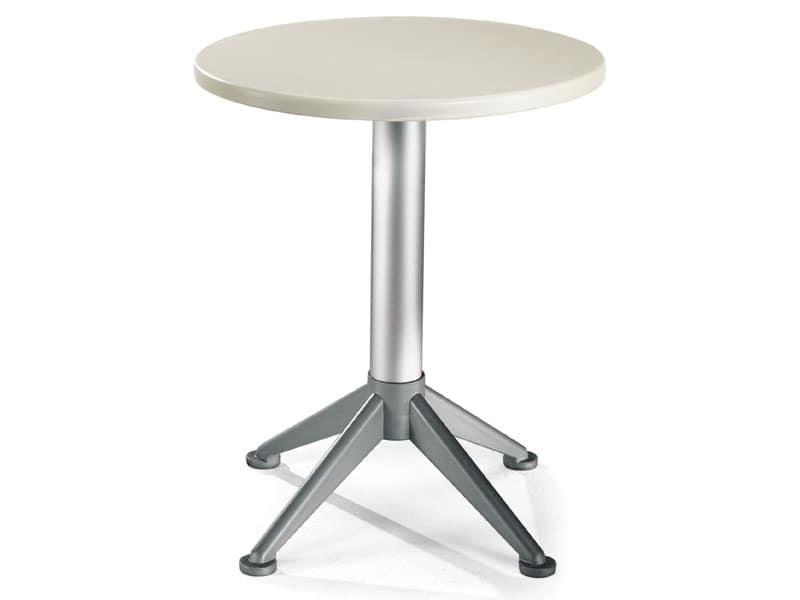Tavolo Ø 60 cod. 04/BG4A, Tavolino moderno con base a 4 piedi