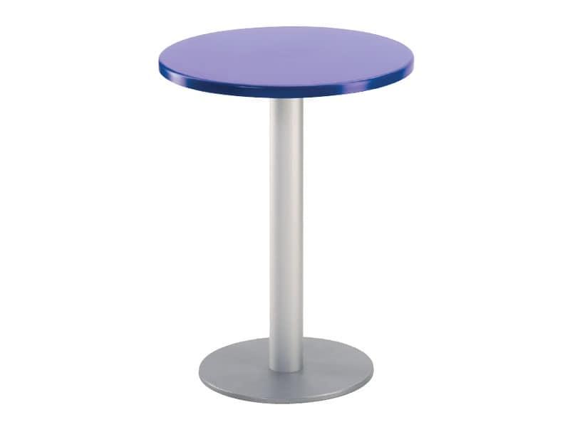 Tavolo Ø 60 cod. 04/BR, Tavolino rotondo per bar all'aperto