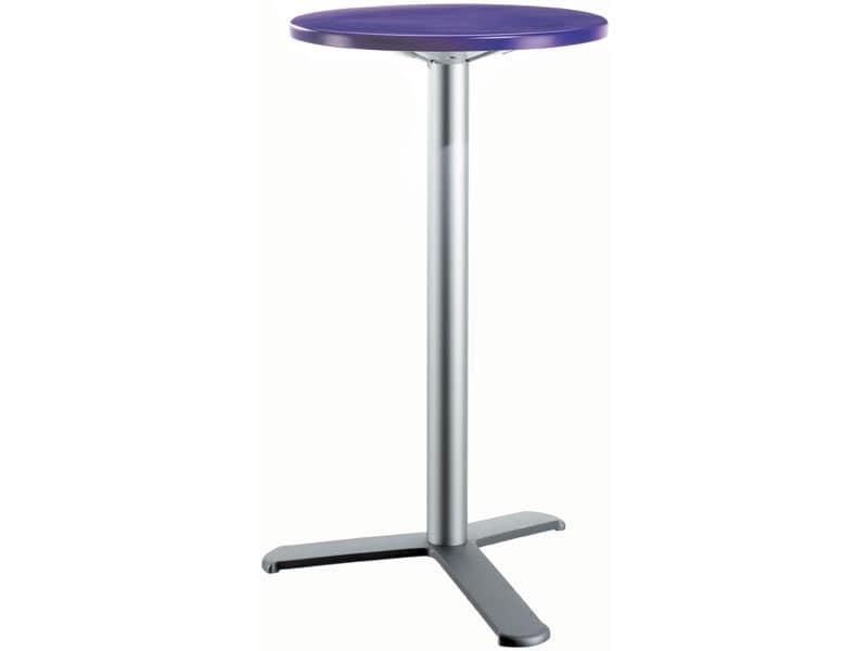 Tavolino moderno alto per snack bar idfdesign for Tavolo tondo alto