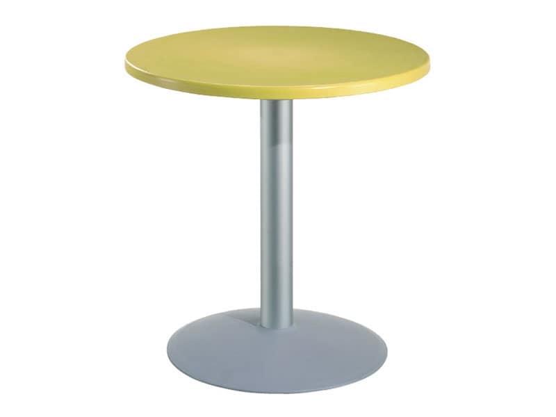 Tavolino tondo per bar con piano in polimero idfdesign for Tavolo tondo alto