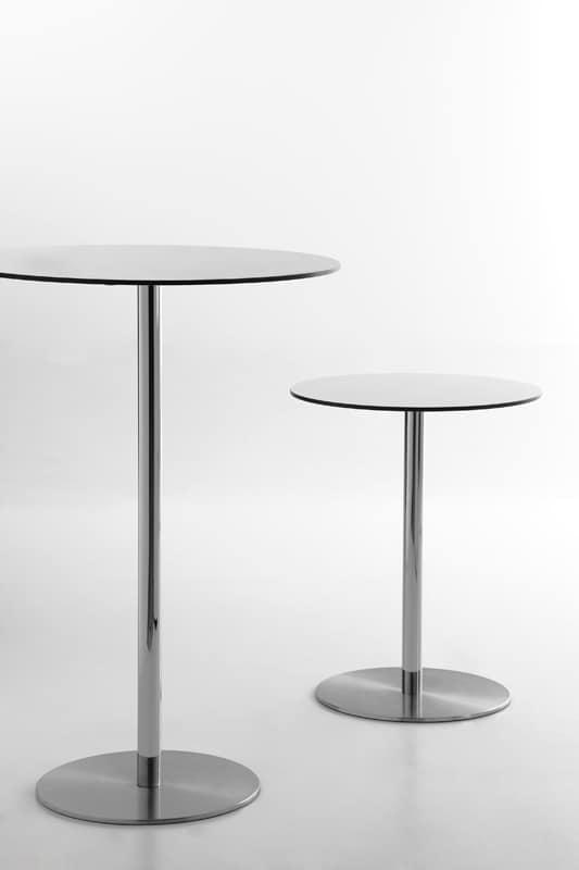 Voilà round h75, Tavolo da bar, piano tondo in hpl, disponibile in varie misure