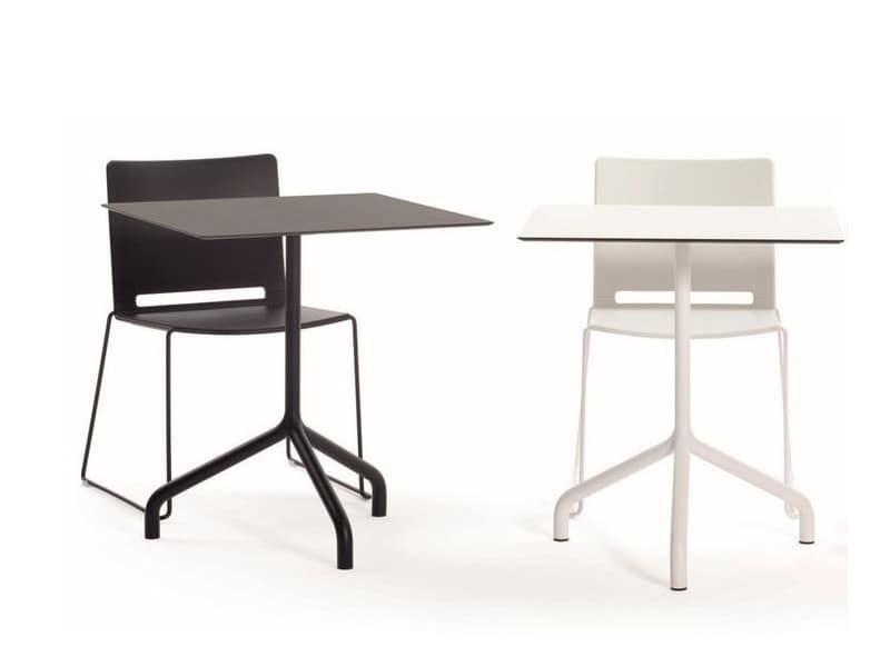 Ribalto, Tavolini per bar, disponibili in diversi materiali ed altezze, piani tondi e quadrati