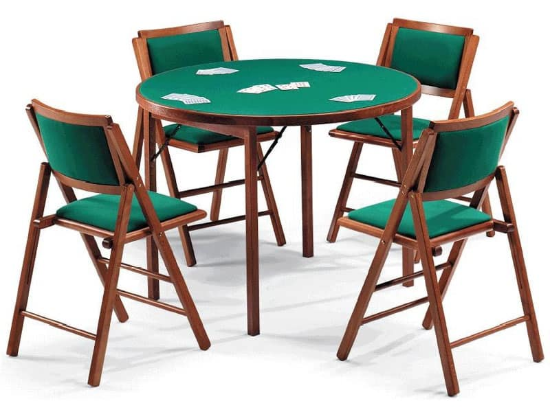 Tavoli Da Gioco Pieghevoli Milano : Tavolo da gioco con panno verde piano tondo idfdesign