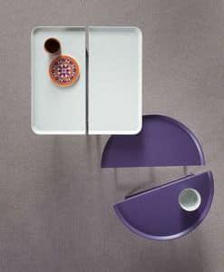 1+1, Tavolino componibile, in metallo laccato