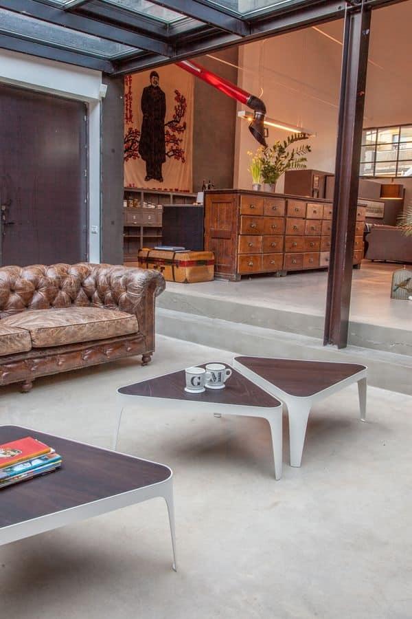 Tavolini moderni per salotto, tavolini in legno e metallo per salotti ...