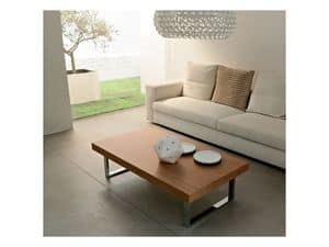 ART. 214/L LITTLE MALE', Tavolino centro sala, in legno e metallo verniciato