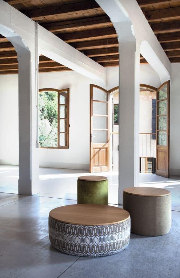 Tavolini rotondi con trame di tessuto per salotto - Tavolini salotto amazon ...