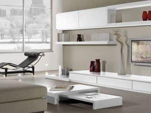 Complementi Tavolino Legno 08, Tavolino basso in legno per alberghi in stile moderno