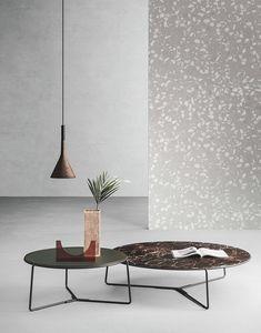 Fil, Tavolino con disegno lineare, per centro sala moderni