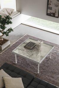 FRAME M TL528, Tavolino quadrato per salotto