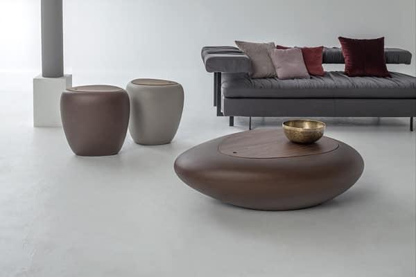 Tavolino da salotto con portaoggetti anche per esterni idfdesign - Tavolini tonin casa ...