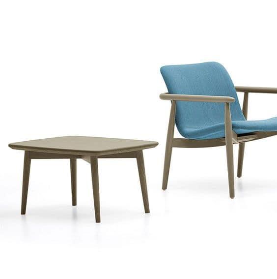 Lapis tavolino, Tavolino in legno massello di frassino, per salotti
