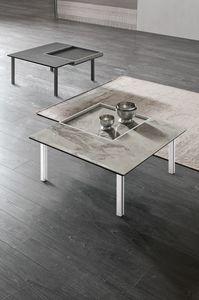 LEVELS M TL515, Tavolino quadrato, con vassoio estraibile