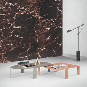 Pets, Tavolini dal design minimale, in lamiera metallica