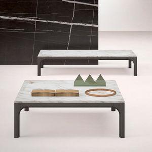 Prism tavolino, Tavolino con piano in marmo