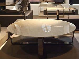 Sushi low table 3, Tavolino rotondo per centro sala, varie finiture