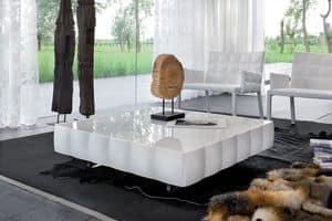 VENICE tavolino, Tavolino in laminato rivestito in PVC, per sala attesa