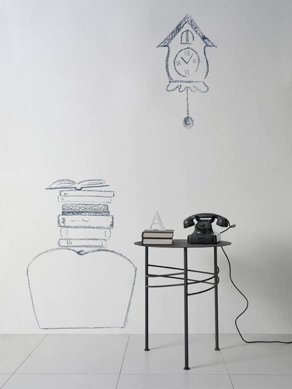 Tavolino lineare in metallo per sala attesa e ufficio for Design moderno per sala d attesa per ufficio