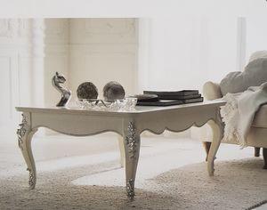 Art. 102T, Tavolino da salotto laccato bianco