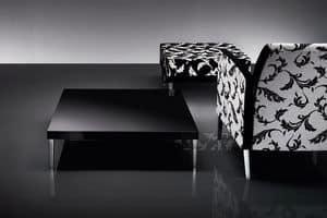 ART. 216 HOLLY, Tavoli bassi, gambe in metallo, piano mdf laccato