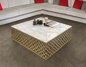 ART. 3366, Tavolino con struttura finitura oro satinato