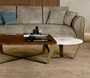 ART. 3449, Tavolino tondo con piano marmo