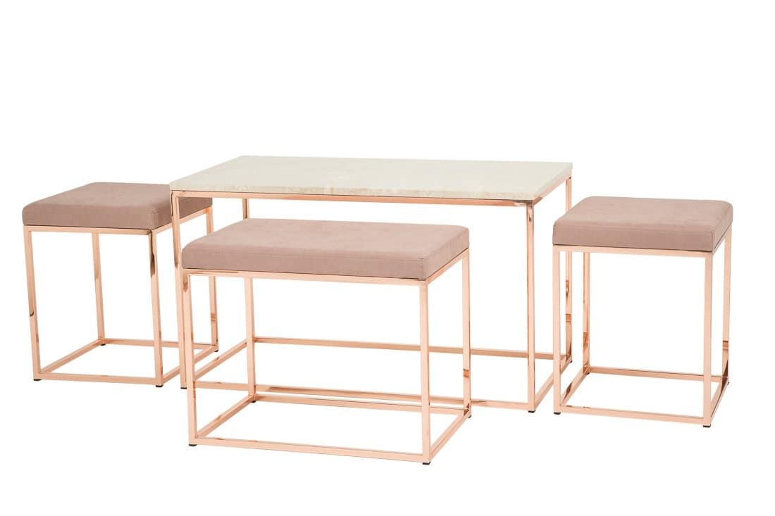 Art.Dalì tavolino, Tavolino per centro sala finito in rame, per salotto